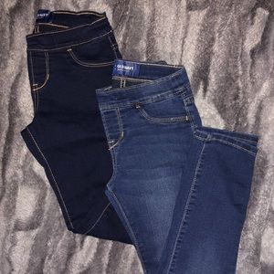 2 pairs - Old Navy Jeans Skinny/Adjustable Waist